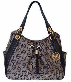 LUDLOW Large Shoulder Tote Bag Handbag   Beige / Black Shoes