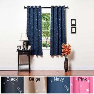 Star Struck Grommet Top 63 inch Thermal Insulated Blackout Curtain Set