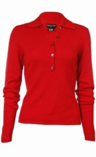 Sutton Studio Womens 100% Cashmere Polo Sweater Clothing