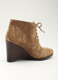 Franco Sarto High Wedge Laceup ankle desert bootie