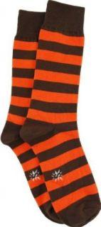 Sock It To Me Orange and Brown Striped Mens Socks