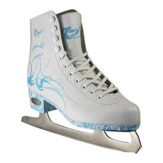 Womens American 532 Lightblue Figure Skate White
