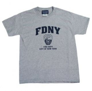 Fdny Kids Short Sleeve Screen Print T Shirt Gray Clothing