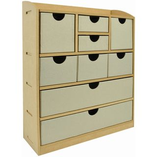 Beyond The Page MDF 9 Drawer Chest 12.5X15X4