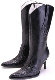 Crocodile Leather Womens Cowboy Boots Western Classics 21760 Shoes