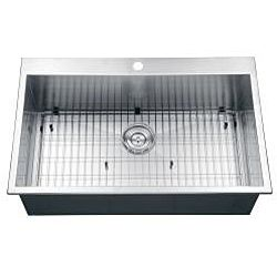 Ruvati 16 gauge Stainless Steel 33 inch Single Bowl Overmount Kitchen