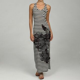 Romeo & Juliet Couture Womens Striped Floral Print Maxi Dress