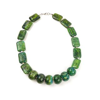 Pretty Little Style Green Turquoise Statement Necklace