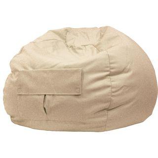 Hudson Industries Cargo Pocket Khaki Denim Look Extra Large Bean Bag