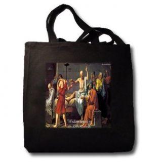 Socrates Wisdom Begins In Wonder   Black Tote Bag JUMBO