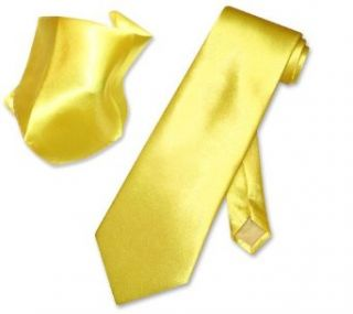 Solid DARK YELLOW NeckTie Handkerchief Matching Neck Tie
