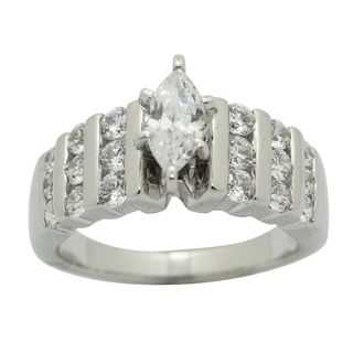 Sterling Silver Clear Cubic Zirconia Ring