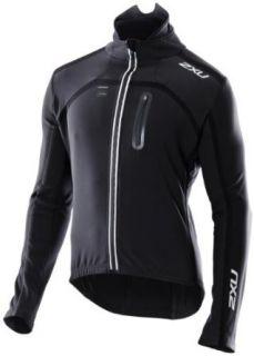 2XU Mens Sub Zero Cycle Jacket,Black/Black,Medium