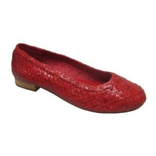 Andres Machado Womens Red Genuine Leather Driving Shoes: Shoes
