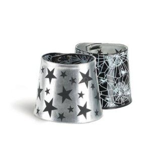 01, Reversible Spider Web/Star Boot Cuff(Blk Pat/ Silver Pu,OS) Shoes