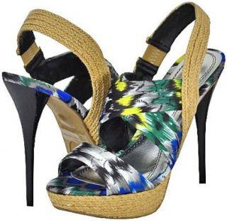Anne Michelle Dynamite 87A Black Multi Women Platform Sandals Shoes