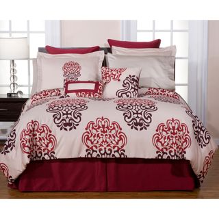 Cherry Blossom 12 piece King size Bed in a Bag with Sheet Set