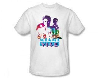 Miami Vice   Crockett And Tubbs Slim Fit Adult T Shirt In