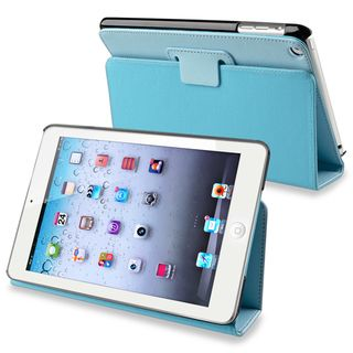 BasAcc Blue Snap on Leather Case with Stand for Apple iPad Mini