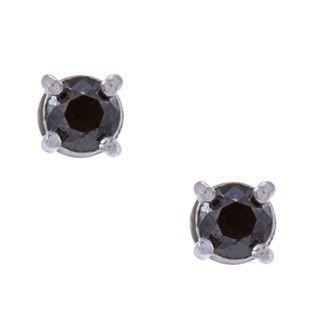 DB Designs Sterling Silver 1/2ct TDW Black Diamond Stud Earrings