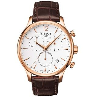 Tissot Mens Tradition Classic Rose Goldtone/ Leather Watch