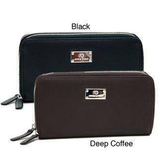 Anais Gvani Genuine Leather Zip Around Wallet