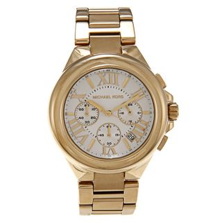 Michael Kors Womens MK5635 Goldtone White Dial Watch