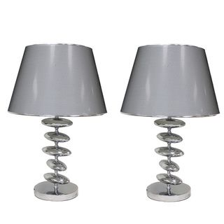 Casa Cortes Wilshire 23 inch Silver Table Lamps (Set of 2)