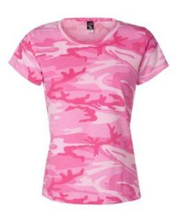 Code V   Ladies Camouflage T Shirt Clothing