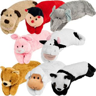 All in one Childrens Large Animal Pillow Pet and Sleeping Bag Set