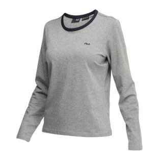 Tee Shirt FILA Femme à manches longues, col arrondi, coupe droite, 95