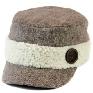 Brown Tweed Newsboy Hat With Wool Trim Clothing