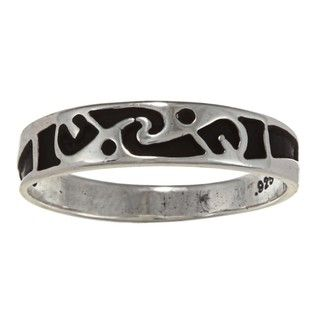Southwest Moon Sterling Silver Painted Love Ring