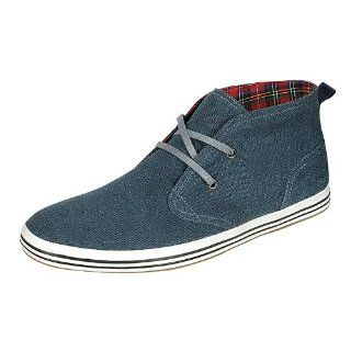 Arider AR3081 Mens High Top Casual Shoes   Navy Shoes
