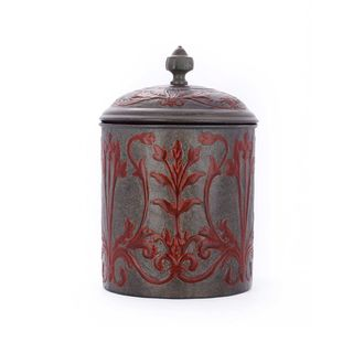 Old Dutch Art Nouveau 4 quart Cookie Jar