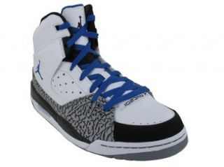 JORDAN SC 1 BASKETBALL SHOES 15 (WHITE/VAR ROYAL BLACK STEALTH) Shoes