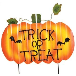 PD Home & Garden Halloween Trick or Treat Yard Sign