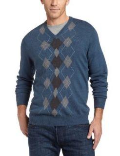 Geoffrey Beene Mens Sa Fancy Vest, Azure Marl, Small
