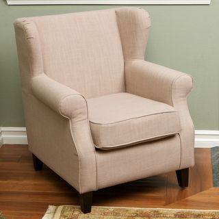 Christopher Knight Home Eleanor Tan Fabric Club Chair