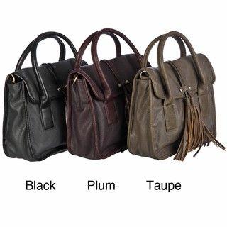 Del Cesca Tassel Front Satchel Handbag