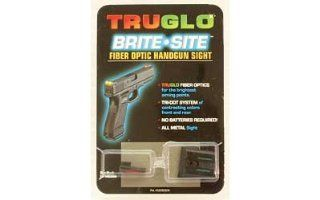 Truglo Fiber Optic Handgun Sight Set   S&W M&P, Red/Green