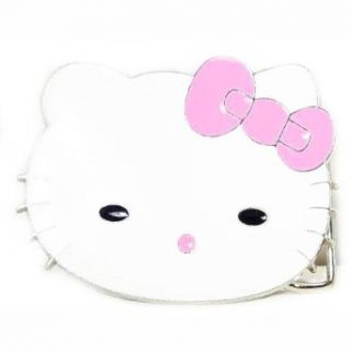 Hello Kitty with Pink Bow Belt Buckle Clothing