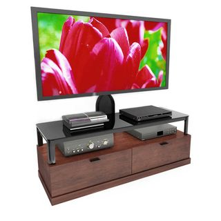 Sonax Bandon Wood Veneer 55 inch Flat Panel TV Mount Entertainment