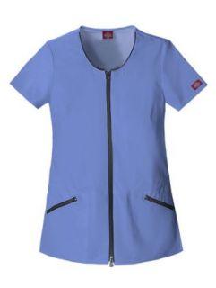 Dickies Zip Down Tunic Scrub Top Clothing