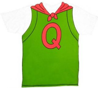 Doug Quailman Q Cape White Adult Costume T shirt Tee with