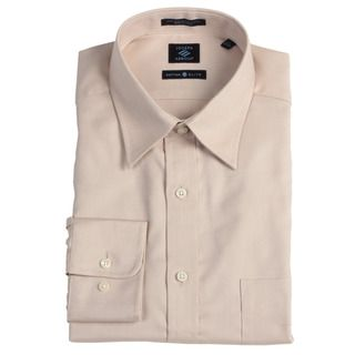 Joseph Abboud Mens Tan Long sleeve Dress Shirt