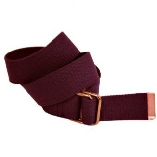 Brown Cotton Web Canvas D ring Style Buckle Belt Size