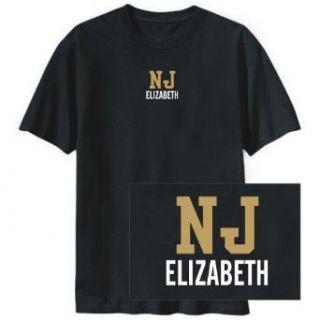 T SHIRT BLACK  POSTAL USA ELIZABETH  NEW JERSEY