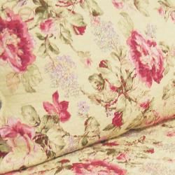Lelia Pink Rose Cottage Cotton King size Quilt Set