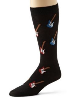 K. Bell Socks Mens Electric Guitar Sock, Black, 10 13